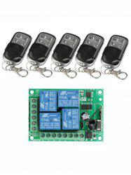 5 Pcs RF 433 Mhz Universal Wireless Remote Switch Control and Relay Receiver Module -