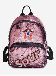 Sequined Star Pattern Multifunction Backpack -