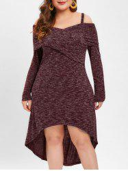 Plus Size Marled Dip Hem Dress -