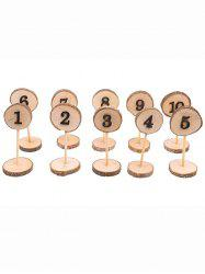 10 Pcs Wooden Table Numbers -