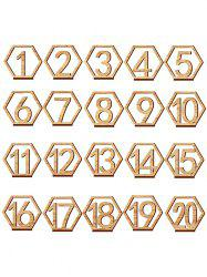 20 Pcs Wood Table Numbers -