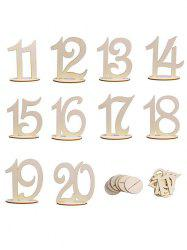 From 11st to 20th Wood Table Numbers -