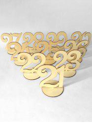 No.21 to 30 Wood Table Numbers -