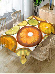 Waterproof Fruits Slices Print Table Cloth -