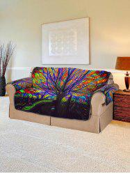 Colorful Tree Print Couch Cover -