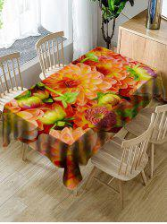 Decorative Flowers Print Waterproof Table Cloth -