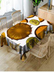 Fruits Slices Print Waterproof Table Cloth -