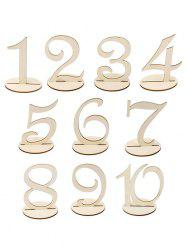10 Pcs Wood Table Numbers -