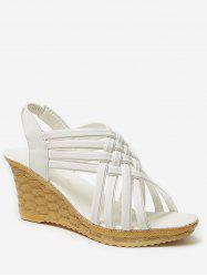 Wedge Heel Hollow Out Slingback Sandals -