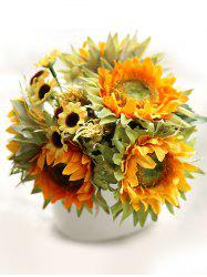 Home Decoration Artificial Flowers 5 Pcs Sunflowers and Daisy -