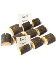 10 Pcs Wood Base Table Number Holders -