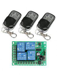 3 Pcs RF Universal Wireless Remote Switch Control and Relay Receiver Module -
