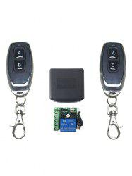 2 Pcs RF Universal Wireless Remote Switch Control and Relay Receiver Module -
