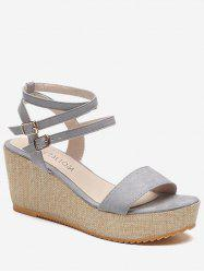 Platform Wedge Heel Ankle Wrap Sandals -