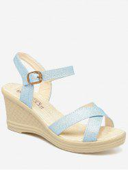 Wedge Heel Crisscross Strap Sandals -
