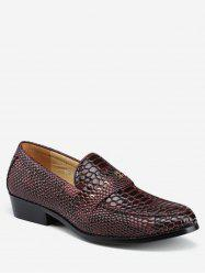 Pointed Toe Snake Print Business Shoes -