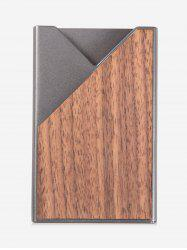 Wood Pattern Printed Business Card Case -