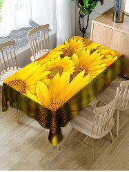 Sunflowers Print Waterproof Decorations Table Cloth -