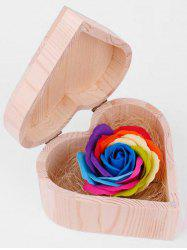 Valentine Gift Colorful Rose Soap with Heart Box -