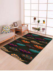 Colorful Leaves Print Floor Mat -