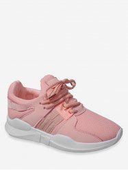 Lace Up Mesh Panel Running Sneakers -