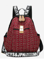 Letter Printed Casual Backpack -