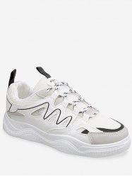 Letter Print Lace Up Net Surface Sports Shoes -