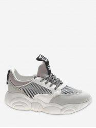 Lace Up Net Surface Sports Shoes -
