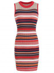 Striped Knit Bodycon Dress -