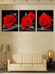 Wall Art Unframed Roses Print Canvas Paintings -