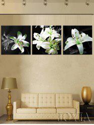Lily Flowers Print Unframed Split Canvas Paintings -