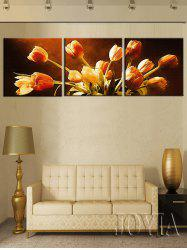 Wall Art Tulips Printed Split Canvas Paintings -