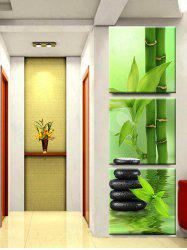 Bamboos and Stone Scenery Print Wall Art Unframed Canvas Paintings -