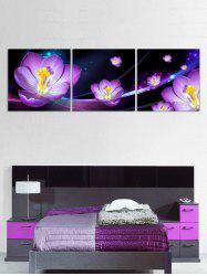 Flower Print Split Canvas Paintings -