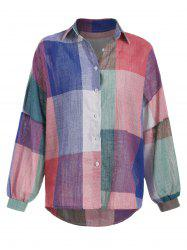 Checked Oversized Colorful Woven Shirt -