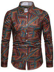 EthnicTribal Print Long Sleeves Casual Shirt -
