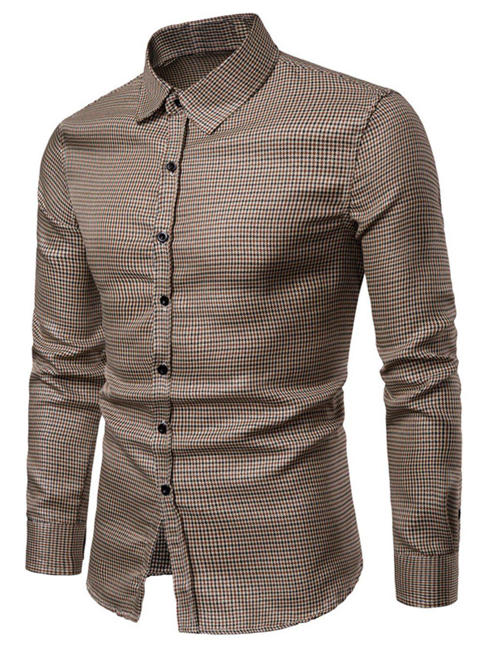 Buy Checked Print Bling Button Up Long Sleeve Shirt