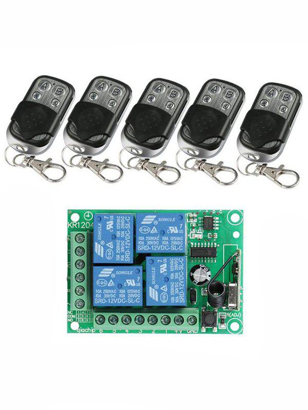 Online 5 Pcs RF 433 Mhz Universal Wireless Remote Switch Control and Relay Receiver Module