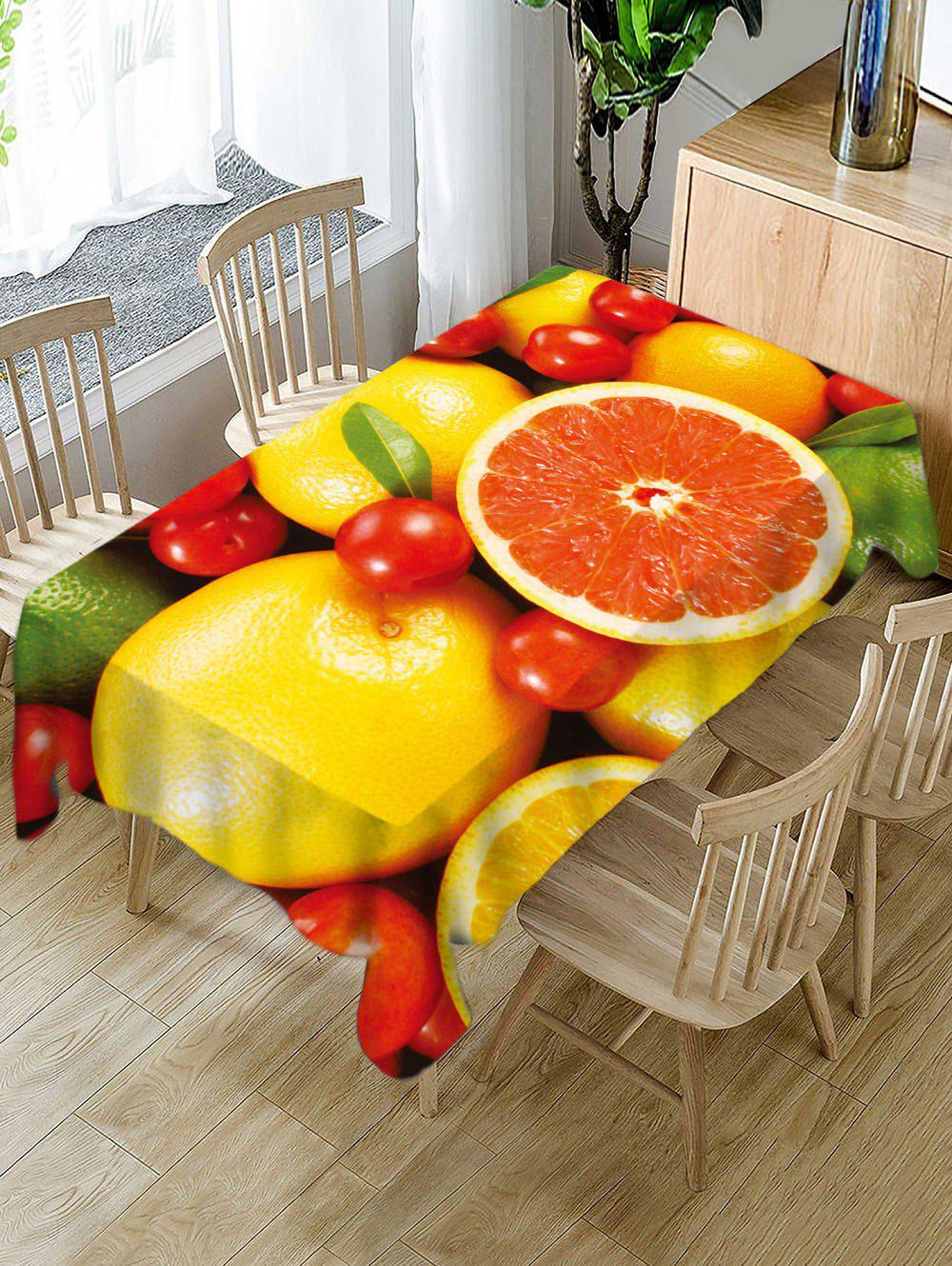 Shops Fruits Print Waterproof Decorative Table Cloth
