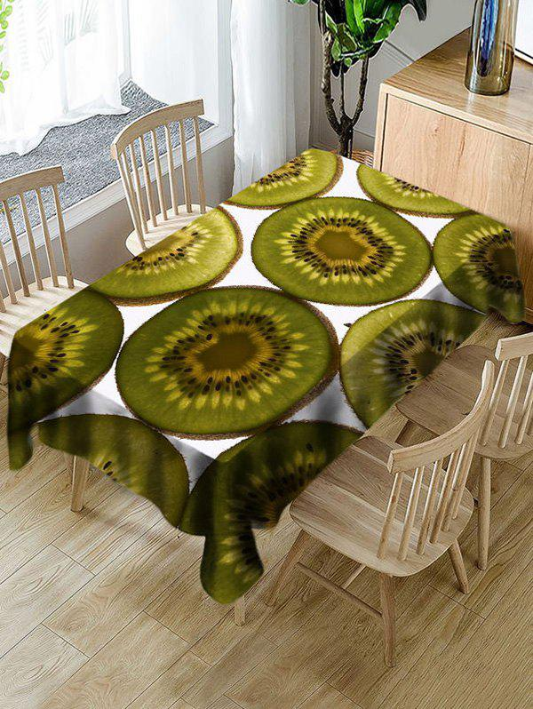 Shop Waterproof Kiwi Slices Print Table Cloth