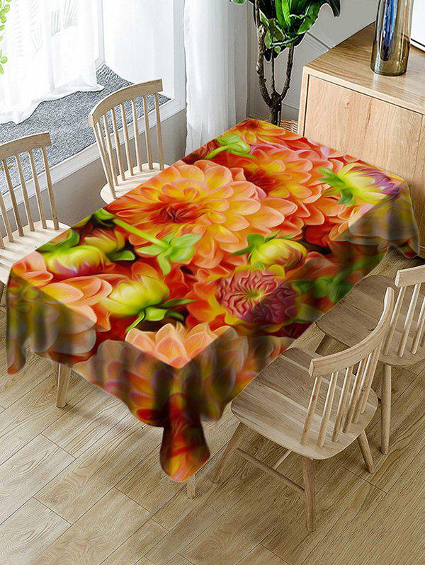 Sale Decorative Flowers Print Waterproof Table Cloth