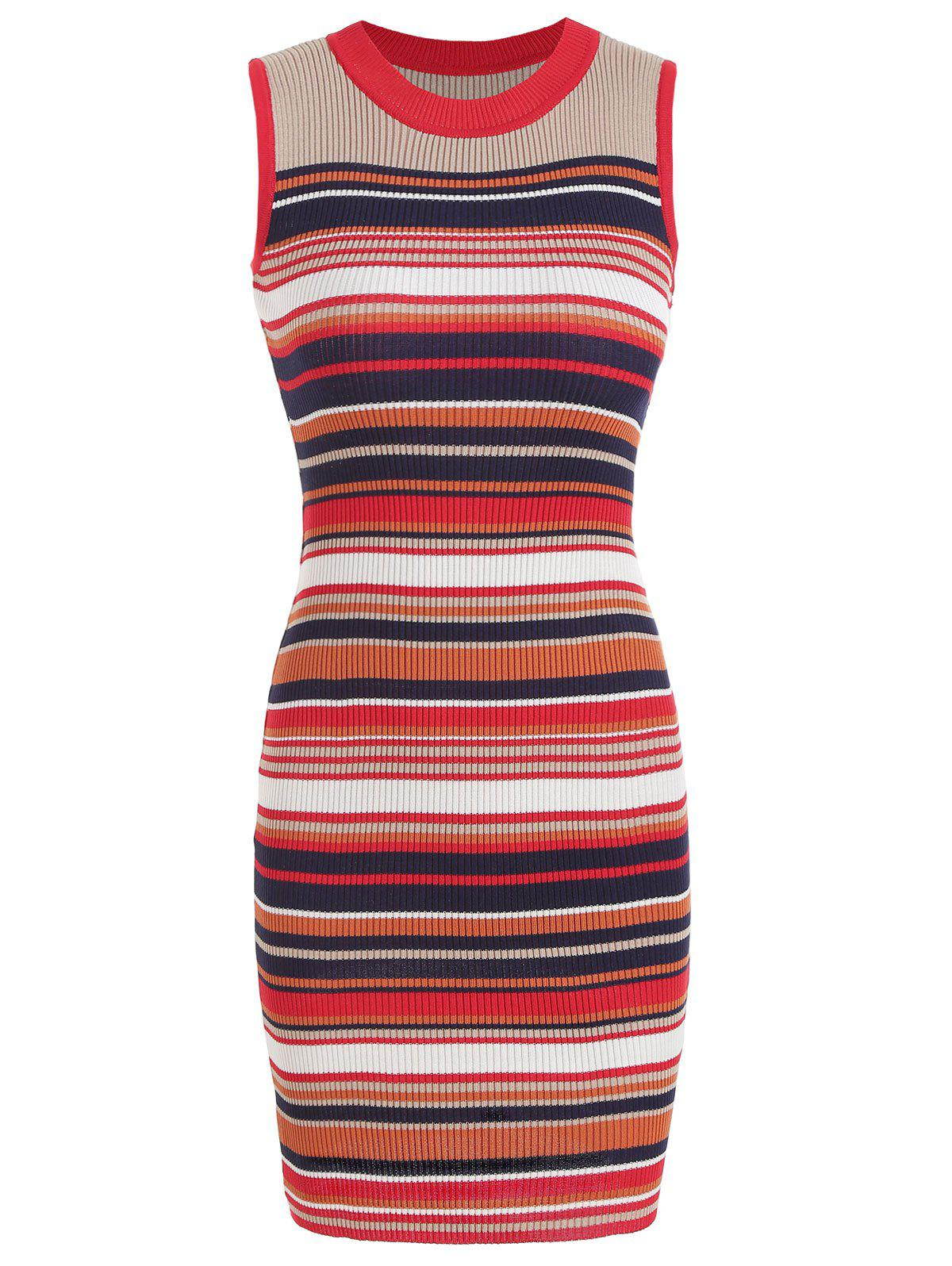 Shop Striped Knit Bodycon Dress