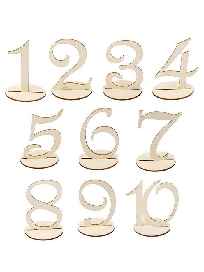 Buy 10 Pcs Wood Table Numbers