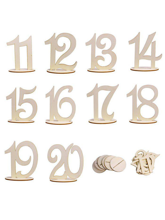Chic From 11st to 20th Wood Table Numbers