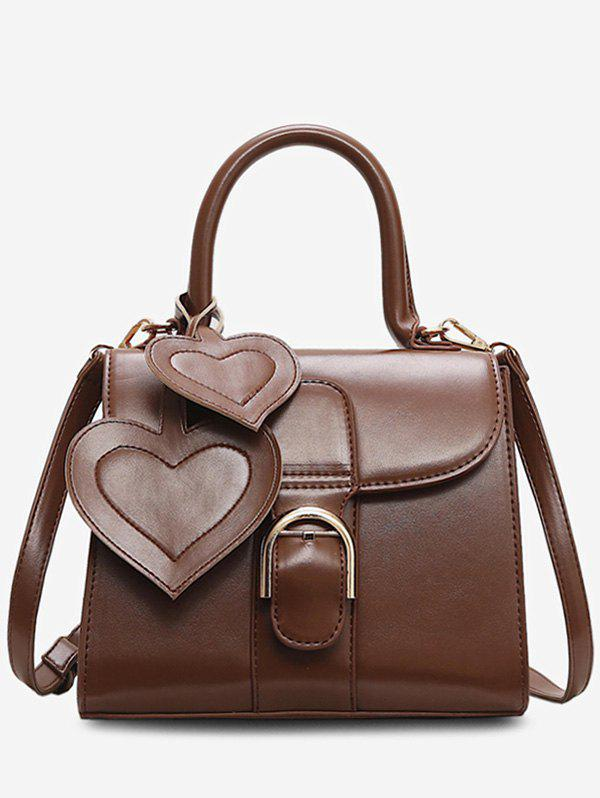 Affordable Square Leather Heart Shape Design Handbag