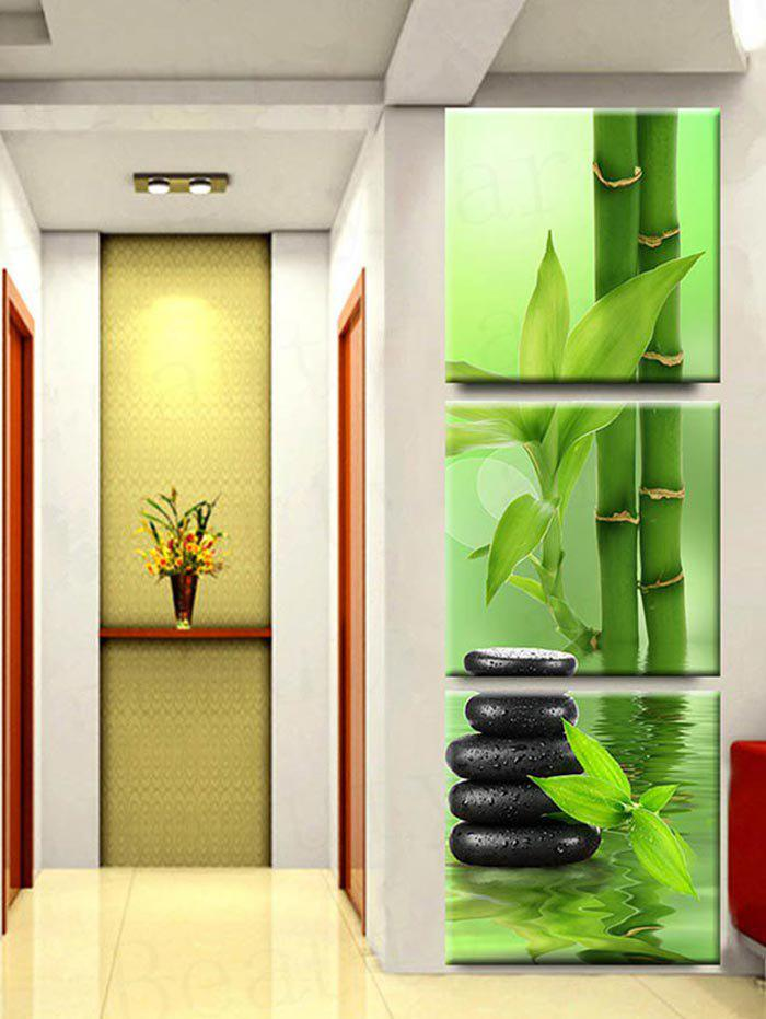 Latest Bamboos and Stone Scenery Print Wall Art Unframed Canvas Paintings