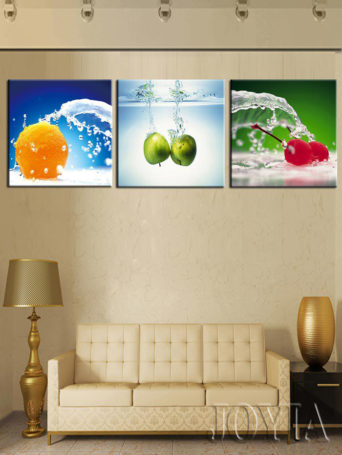 Outfit Water Fruits Printed Split Unframed Canvas Paintings