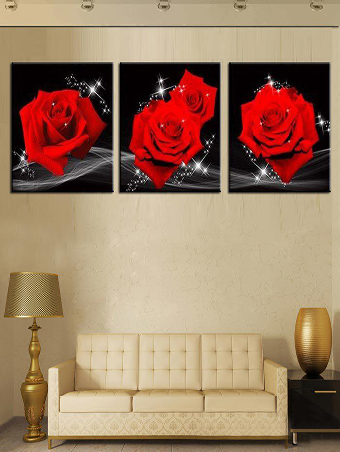 Affordable Wall Art Unframed Roses Print Canvas Paintings