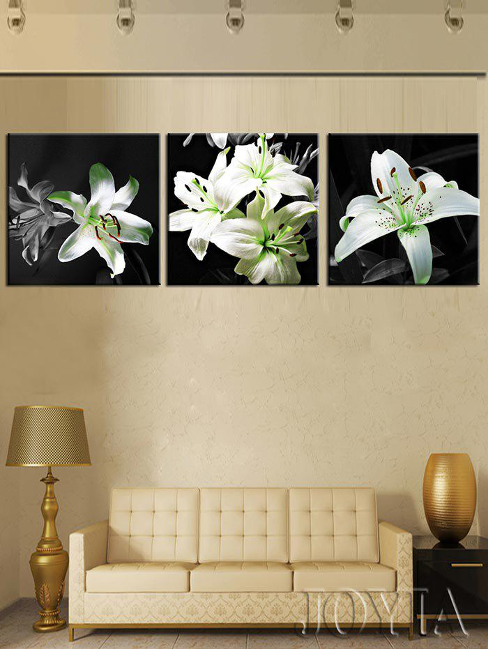Fashion Lily Flowers Print Unframed Split Canvas Paintings