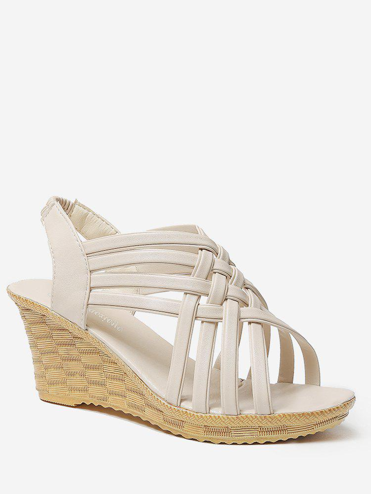 Latest Wedge Heel Hollow Out Slingback Sandals